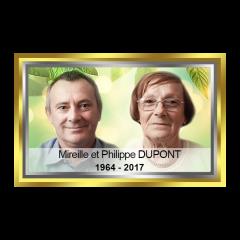 Photo détourée + Fond + Liseré + Texte + Contour