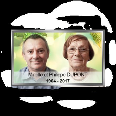 Photo détourée + Fond + Liseré + Texte